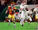 Reggie Bush Autographed USC Trojans Orange Bowl 16x20 Photo