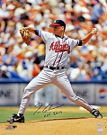 Tom Glavine Autographed Atlanta Braves 16x20 Photo Inscribed HOF 2014