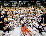Chicago Blackhawks Autographed 2013 Stanley Cup Champs 16x20 Photo