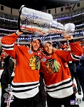 Toews & Kane Autographed Blackhawks 2015 Stanley Cup Champs 16x20 Photo