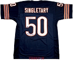 Mike Singletary Autographed Chicago Bears Jersey Inscribed Monster of the Midway