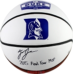 Tyus Jones Signed Duke Logo Basketball Inscribed 2015 Final Four MOP