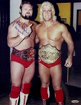 Arn Anderson Autographed Posing w/Flair 11x14 Photo Inscribed 4 Horsemen