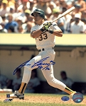 Jose Canseco Autographed Oakland A's 8x10 Photo Inscribed 40/40