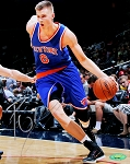 Kristaps Porzingis Autographed New York Knicks 8x10 Photo