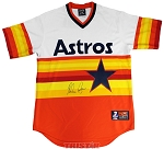 Nolan Ryan Autographed Houston Astros Rainbow Jersey by Majestic