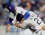 Nolan Ryan Autographed Ventura Fight 16x20 Photo Inscribed Don't Mess With Texas