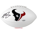 Lamar Miller Autographed Houston Texans Logo Football