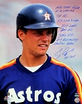 Craig Biggio Autographed Inscribed Astros Close-up 16x20 Photo Limited Edition