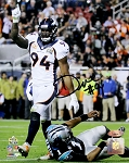 DeMarcus Ware Autographed Denver Broncos Super Bowl 50 8x10 Photo