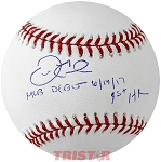 Derek Fisher Autographed Official ML Baseball Inscribed MLB Debut