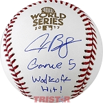 Alex Bregman Autographed 2017 World Series Baseball Inscribed Game 5 Walkoff Hit