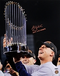 A.J. Hinch Autographed Houston Astros 16x20 Photo Inscribed 2017 World Series Champs