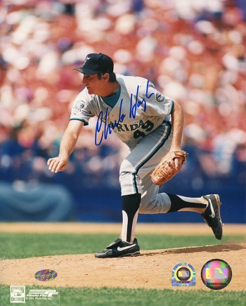 Charlie Hough Autographed Florida Marlins 8x10 Photo
