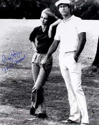Cindy Morgan Autographed Caddyshack w/Chase 16x20 B&W Photo Inscribed Lacey Underall