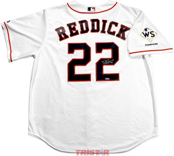Josh Reddick Autographed Houston Astros Replica Jersey with WS Champs Patch
